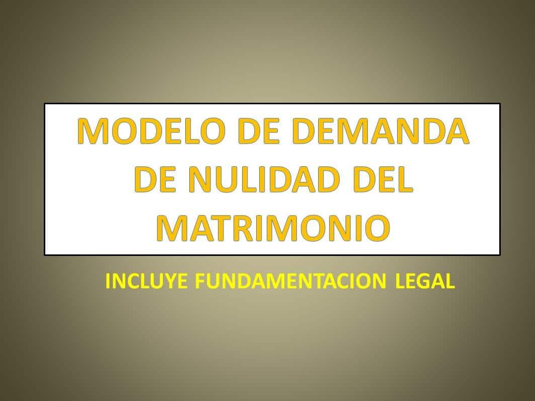 Matrimonio Catolico Disolucion : Modelo de demanda de nulidad del matrimonio derechomexicano.com.mx