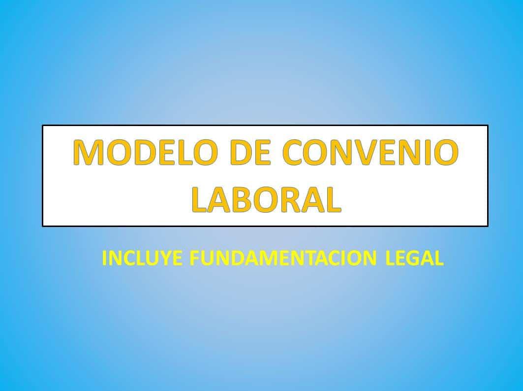 Modelo De Convenio Laboral
