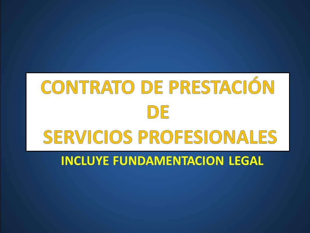 CONTRATO DE PRESTACIÓN DE SERVICIOS PROFESIONALES - derechomexicano ...