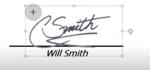 edición de tamaño de firma