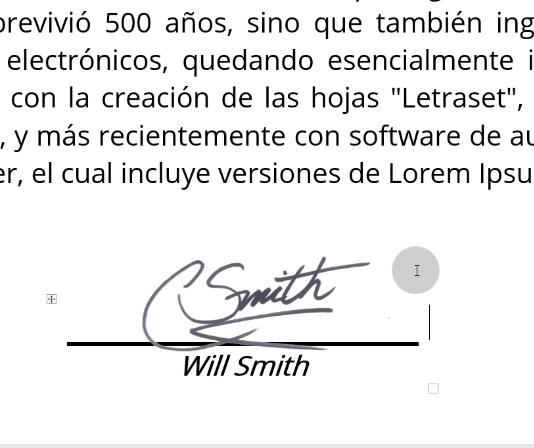 Firma en documento word