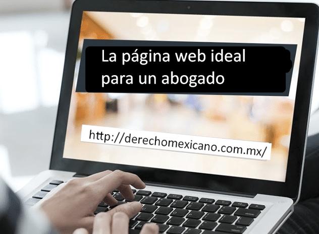 La página web ideal para un abogado